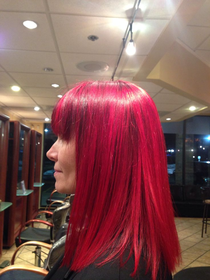 Infrared highlights on a dark red purple base Profilo Day Spa  Westboro, Ma