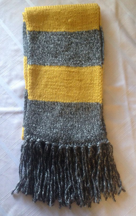 Hufflepuff Scarf Knitting Pattern : 22 best images about knitting on Pinterest Ice cream ...