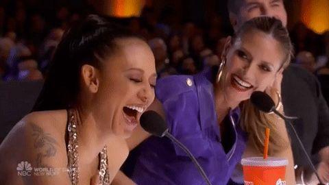 New party member! Tags: lol laughing nbc agt americas got talent girlfriends heidi klum mel b