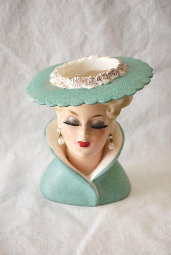 Vintage Napcoware Lady Head Vase