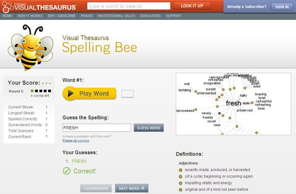 spelling bee games