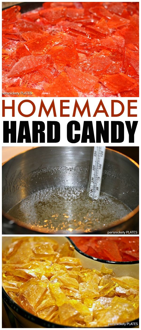 Homemade Hard Candy is easy to make and really easy to customize to whatever flavor and color you want! | Persnickety Plates