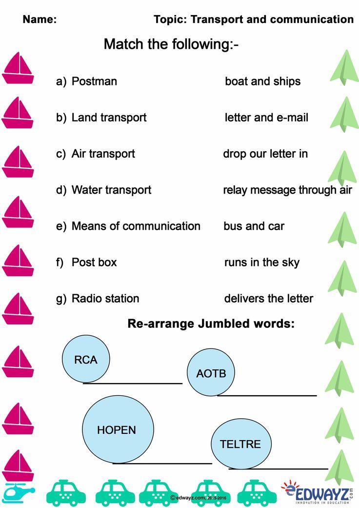 EDWAYZClass2Transport & Communication in 2020 2nd