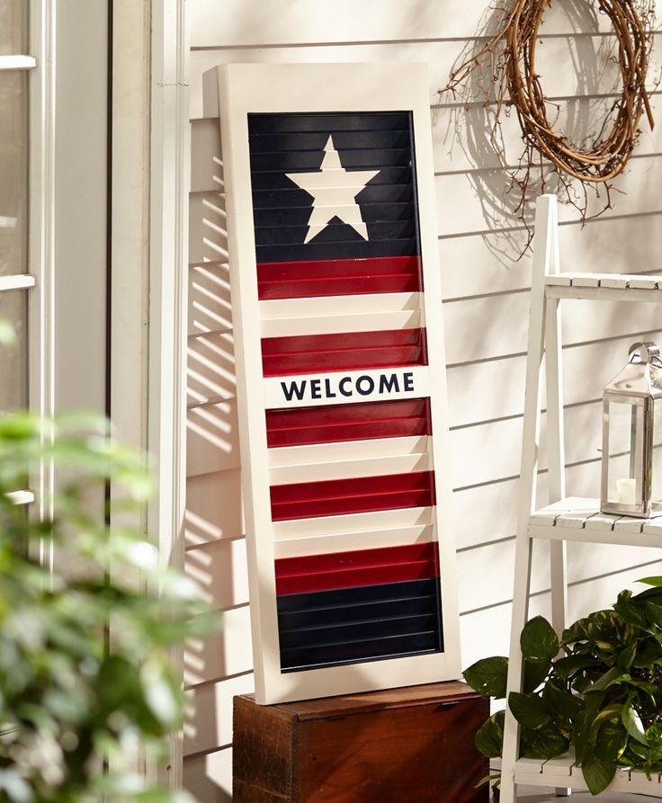 Star Spangled Shutter Project, Seasonal Spray Paint Projects - Designed by me for Krylon