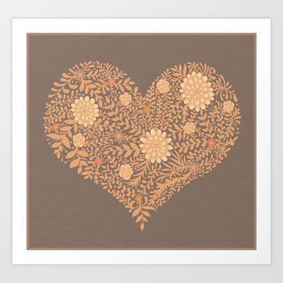 HEART ABSTRACT Art Print by Nora - $16.00