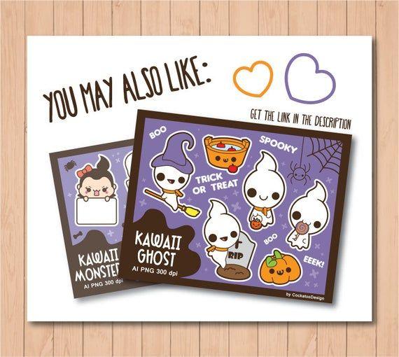 Halloween clipart kawaii halloween clip art kawaii halloween bild 6   – 교실 장식