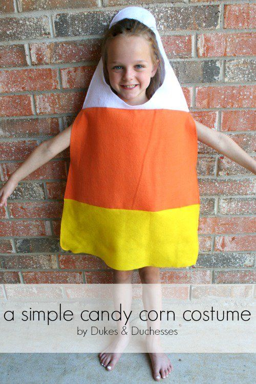 a simple candy corn costume