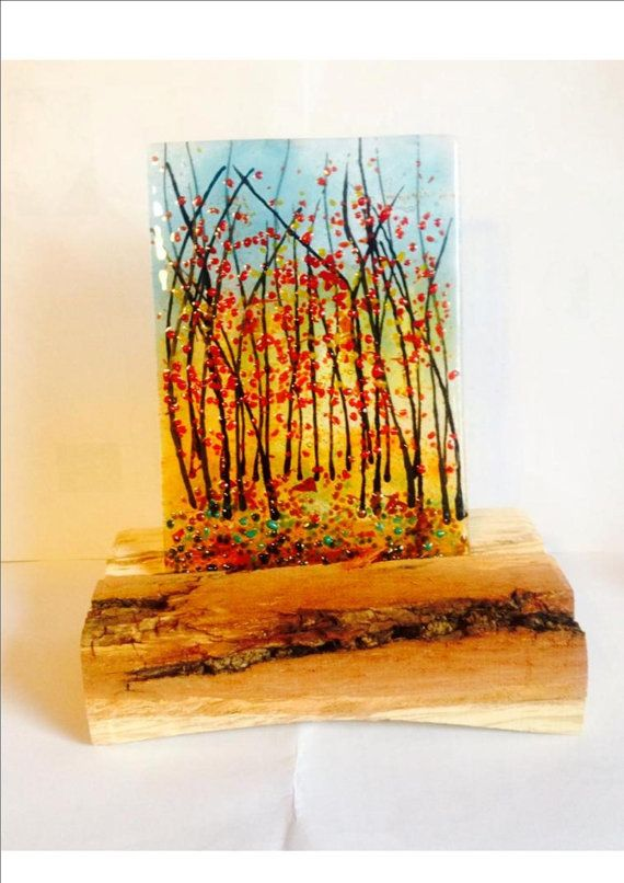 Autumn by AandDCreationsGlass on Etsy