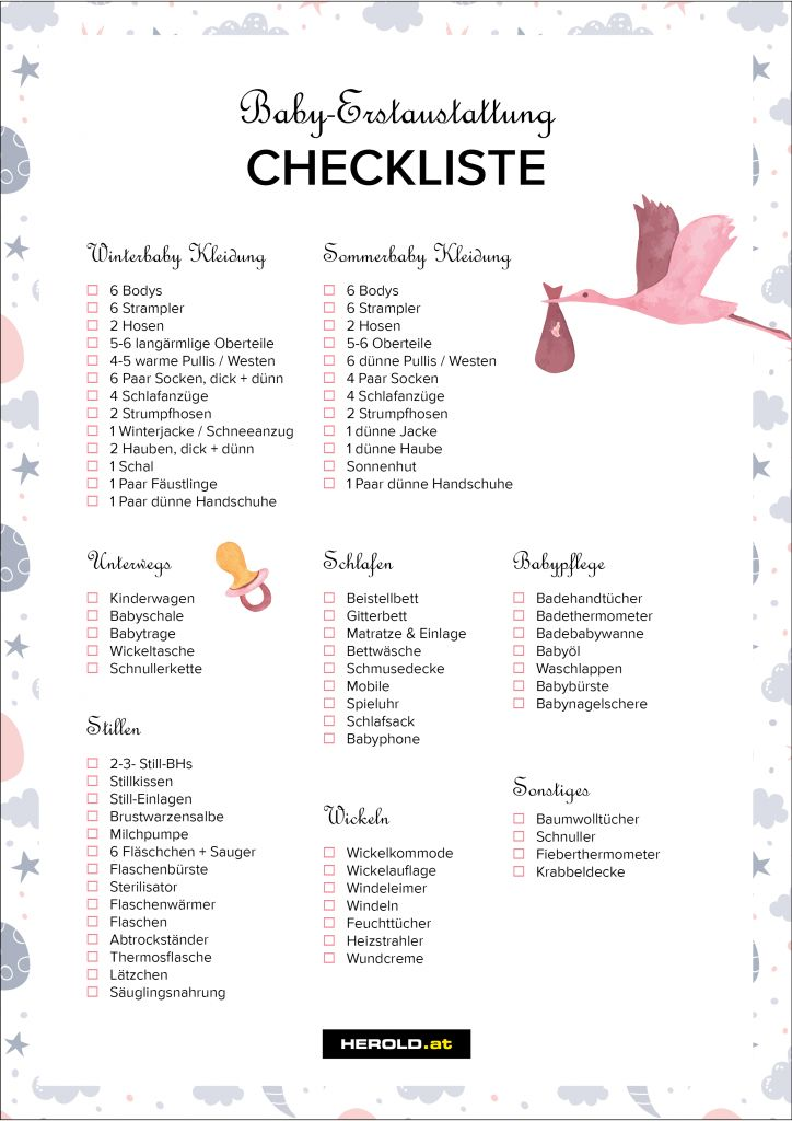 Baby Erstausstattung: Die komplette Checkliste – H…