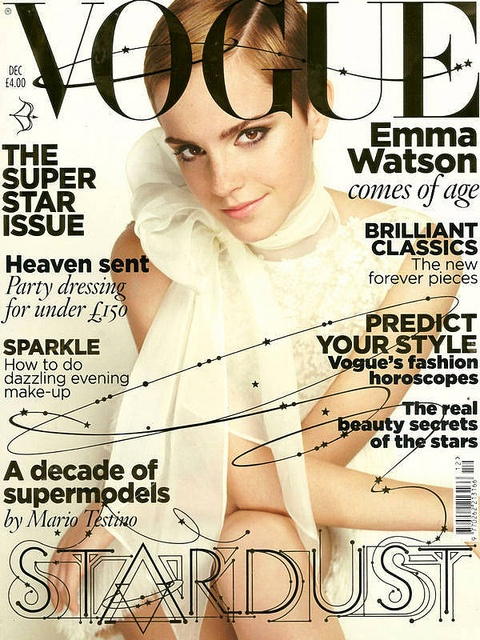 I like how they took one of the titles of the feature articles and how they incorporated that into the entire vogue title