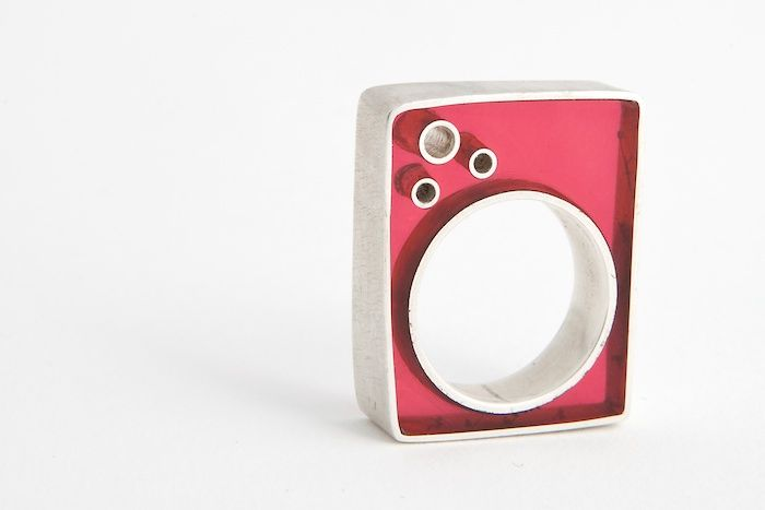 resin and silver ring