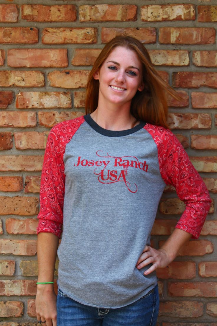 3/4 Sleeve Bandanna Josey Ranch USA shirt! Super comfy and light!  http://www.joseywesternstore.com/product-p/c-kks134.htm