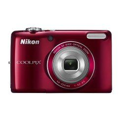 Storage Media: SD, SDHC, SDXC.What's in the box: Nikon Coolpix L26 Digital Camera (Red), AN-CP19 Strap, UC-E16 USB Cable, NikonView NX 2 CD-ROM, 2 x LR6 / L40 AA Batteries and 1-Year Limited Warranty.