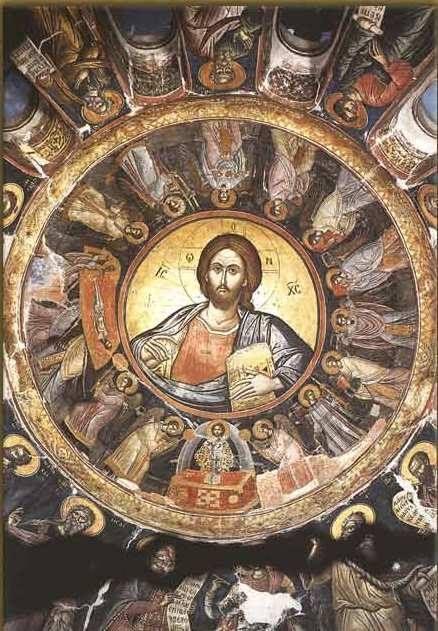 Ο Παντοκράτωρ στον τρούλο του Καθολικού της Ιεράς Μονής Σταυρονικήτα - The Pantocrator in the dome of the Catholic of Stavronikita Monastery