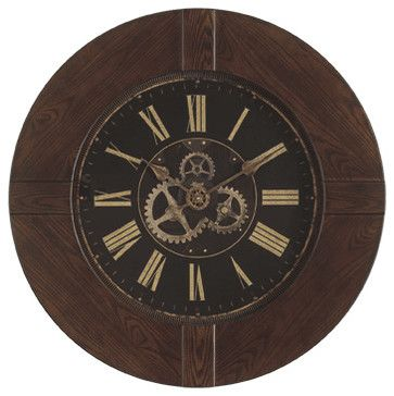 Hermle Barrett 36 inch Gallery Wall Clock - transitional - Clocks - Expressions of Time, LLC