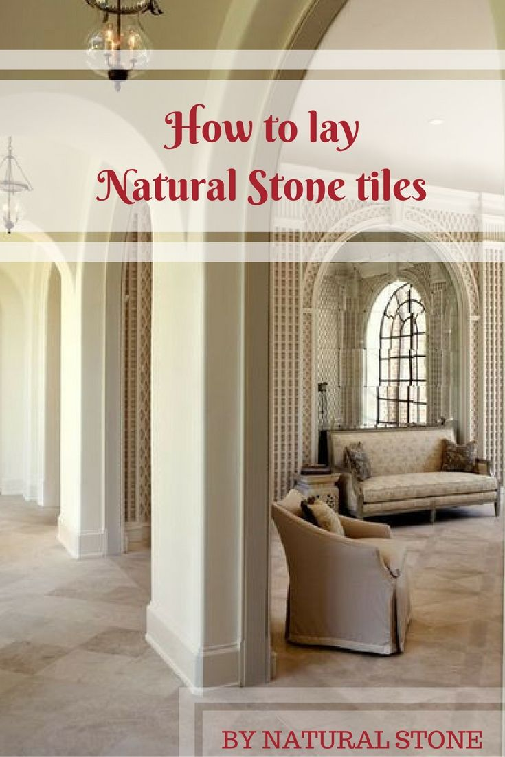 High Quality You Learn How To Lay Your Natural Stone Tiles By Yourself Step By Step.  Follow