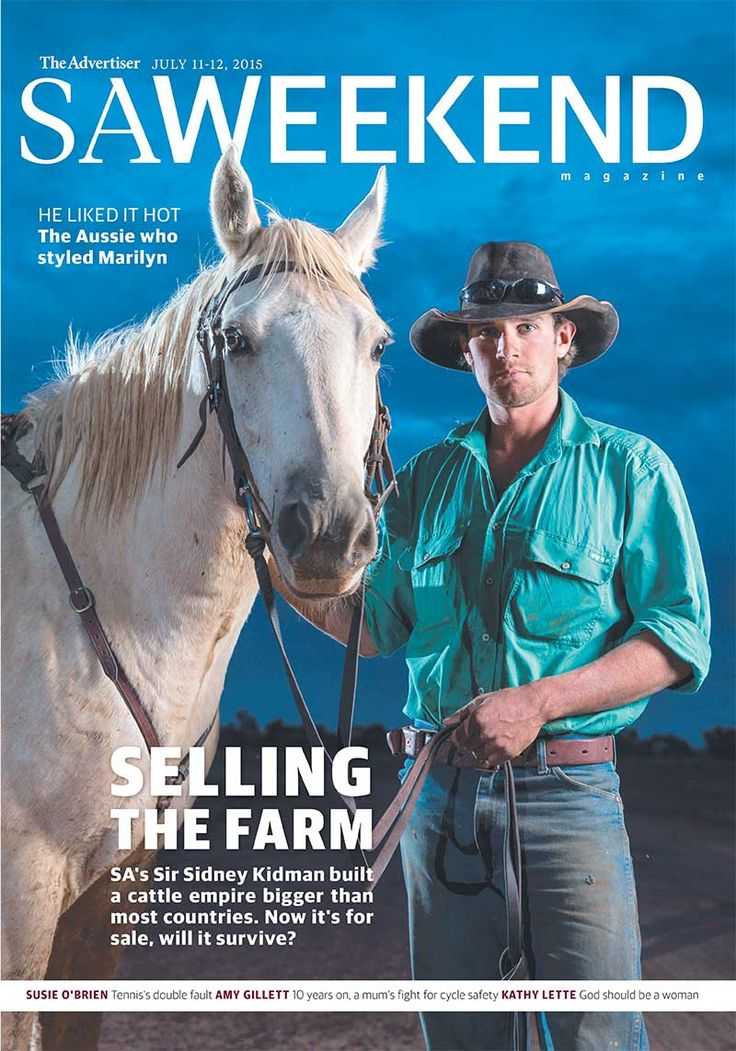 SAWeekend Magazine, July 11 2015. Life on an Outback station in the middle of Australia — the legacy of Sir Sidney Kidman. #Australia #outback #farm #horse #SA #SouthAustralia #magazine. Photo by The Advertiser's Matt Turner