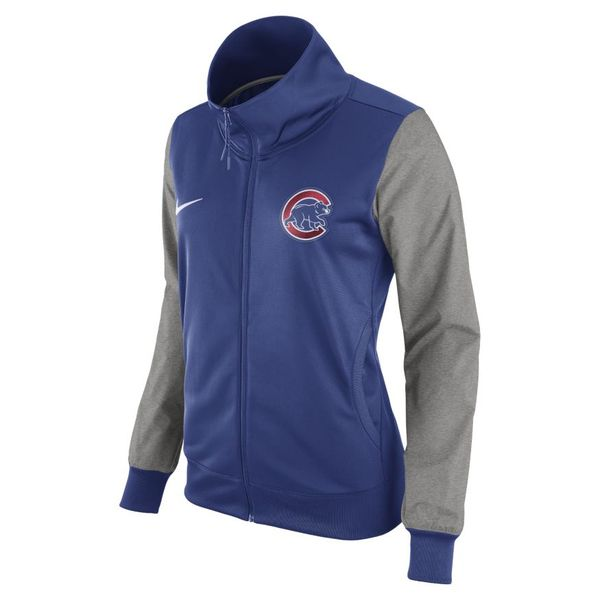 Chicago Cubs Women's Full-Zip 1.7 Track Jacket by Nike at SportsWorldChicago.com