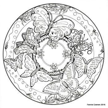 kleurplaten voor het mandala kleurboek раскраски