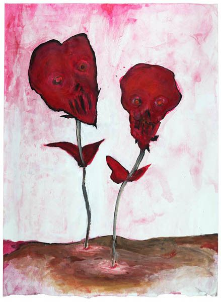 Les Fleurs du Mal original Marilyn Manson watercolor...if I ever for any reason get rich, I will own at least one of his originals!