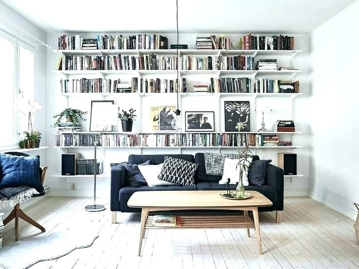 Upsize A Small Living Room With Bookcase Bookshelves In Living Room Living Room Bookcase Apartment Living Room
