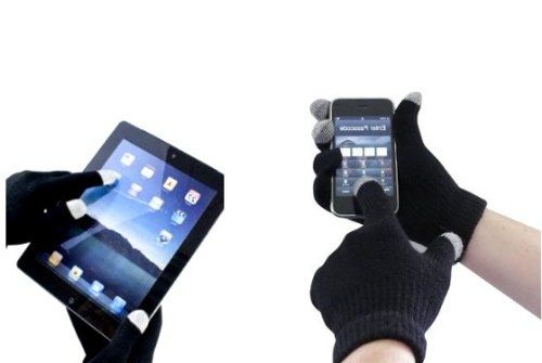 NAVITECH – Gants tactiles de couleur noir, unisexe, pour tous smartphones ou tablettes à écran tactile – SOLDES D'ETE!!: Ces gants tactiles…