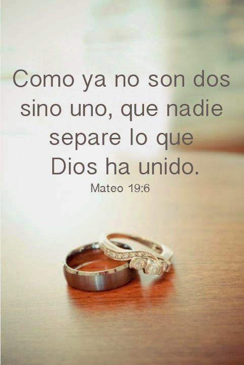 POSTCARDS DE AMOR - Versiculo de amor - Biblia- Matrimonio - Como ya no son dos sino uno, que nadie separe lo que Dios ha unido. Mateo 19:6