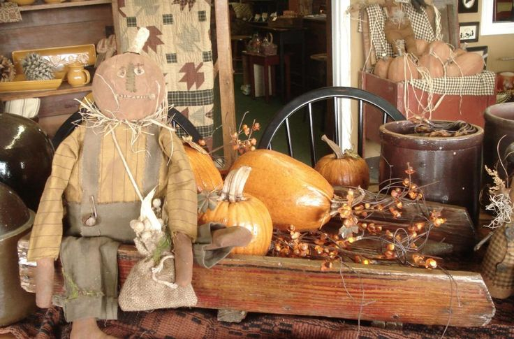 primitive fall decorating ideas | Fall Decoration on a budget