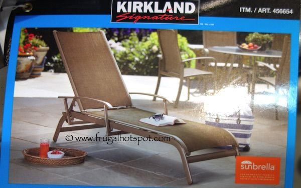 Kirkland Signature mercial Sling Chaise Lounge Costco FrugalHotspot
