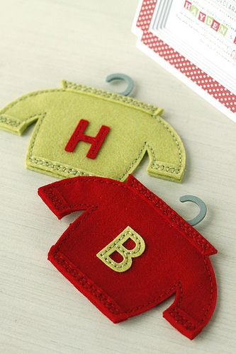 Monogrammed Sweater Ornaments Using the Softie Sweater Die and Sew Stylish Alphabet Dies from Papertrey Ink