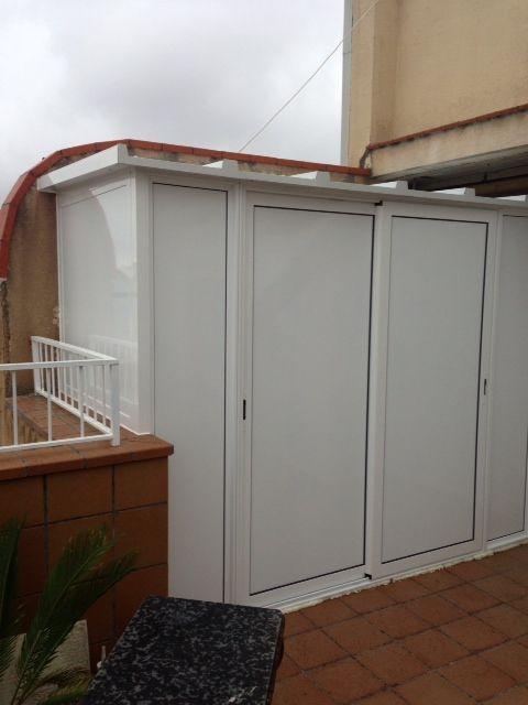 Mejores 11 im genes de armarios para la terraza en pinterest aluminio armarios y las terrazas Armarios de pvc para exterior