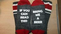 Novelty Socks. Quality Kodiak 100% Cotton or Wool Christmas Gift idea for secret santa, co worker's, neighbors, boss etc etc. Customize to whatever drink u would like coffee, tea, vodka, Bud, Coors Light etc etc 2 for $25 or $15 each Check out my facebook page please. Personalize that Gift