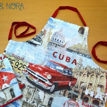 Delantal Cuba con guante a juego y tira regulable. Agotado.