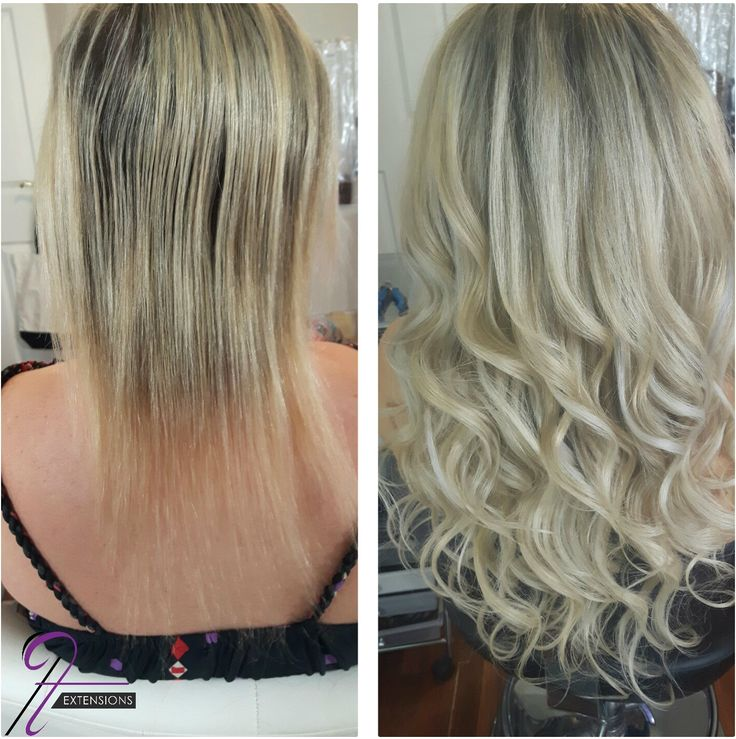 Before and after 20 inches in 22 (light ash blonde