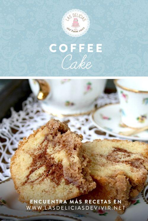 Rica receta de pastel de café o coffee cake americano