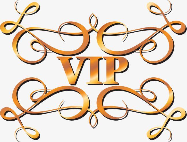 Логотип Golden VIP, Золотой, Вип, Знак PNG Image