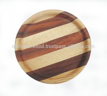 Wooden Segment Plate Collection By Mahadev Wood industries