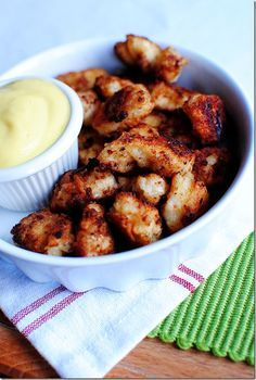 Copycat chick-fil-a nuggets! Yep, they are awesome! A couple surprise ingredients in there ;)
