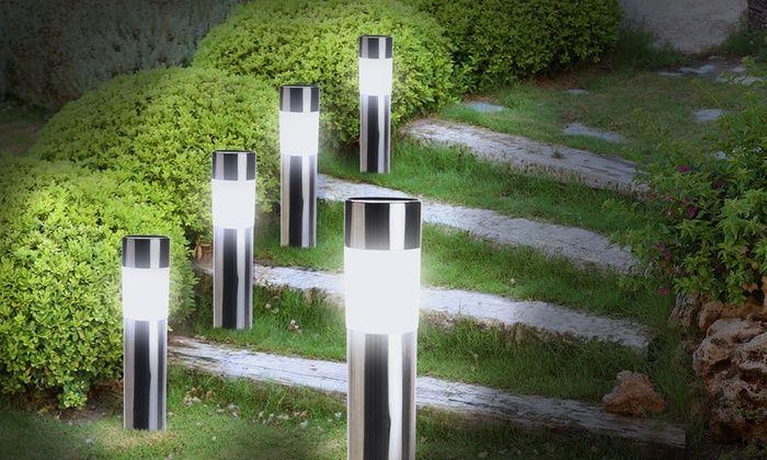 Groupon Goods Global GmbH: Jusqu'à 12 bornes LED solaires en acier inoxydable dès 12,90€ (jusqu'à 78% de réduction)