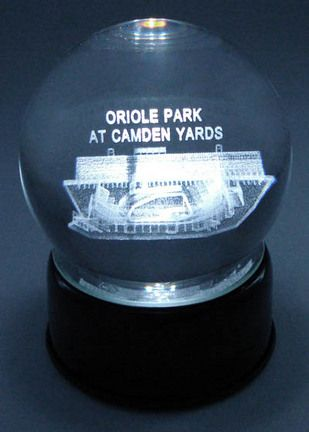 Oriole Park at Camden Yards (Baltimore Orioles) Laser Etched Crystal Ball Music Box