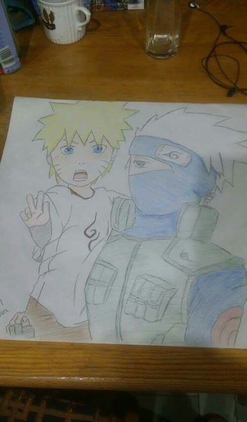 Little Naruto and Kakashi