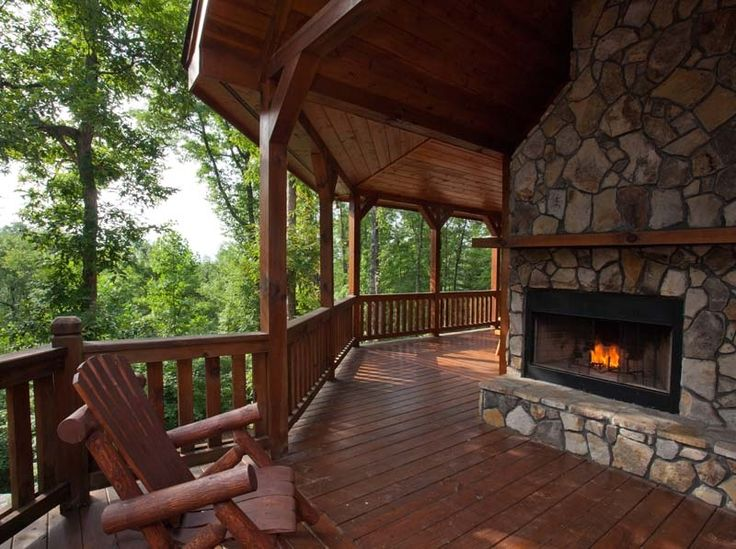 Log cabins a collection of architecture ideas to try for Log home decks