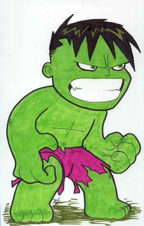 Chibi-Hulk 4. by hedbonstudios.deviantart.com on ...