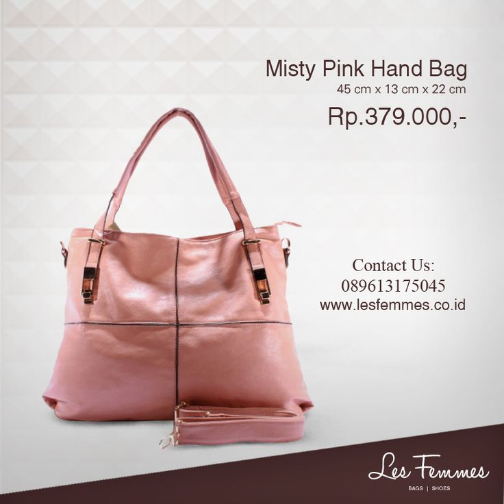 Misty Pink Hand Bag 379,000 IDR #Fashion #Woman #bag shop now on http://www.lesfemmes.co.id/hand-bags/misty-pink-hand-bag