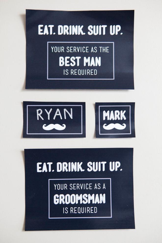 "DIY - ""Will You Be My Groomsman?"" free printables!"