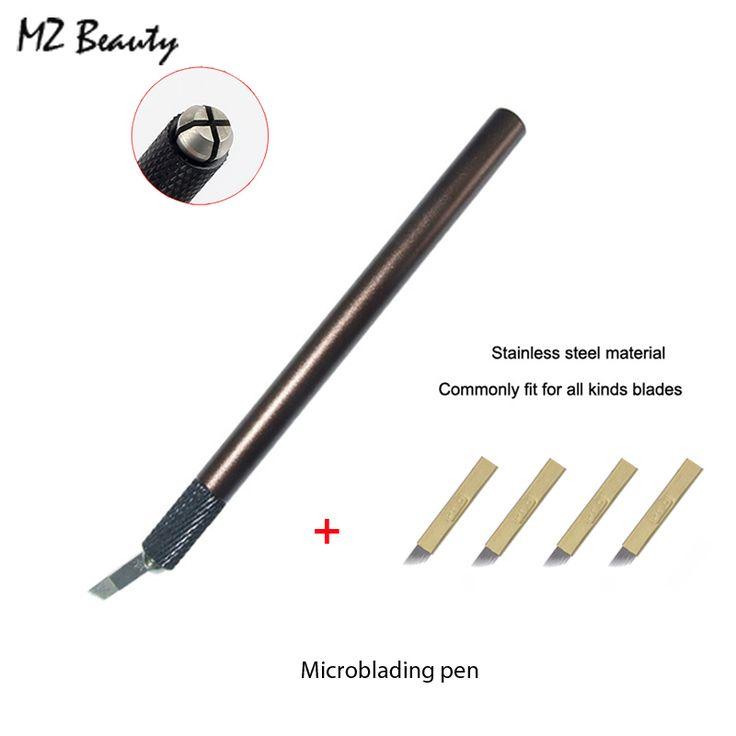 Tebori ручка руководство татуировки для постоянного ручка для бровей татуировки с 4 шт. 12 контакт. лезвие иглы microblading ручка купить на AliExpress