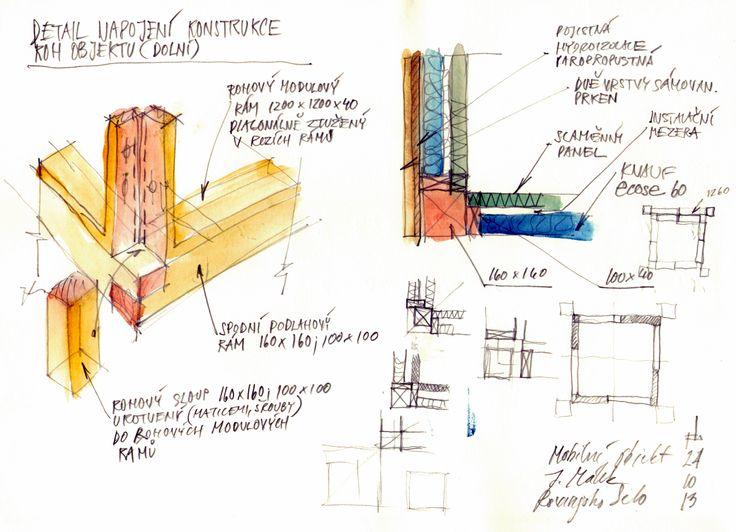 ecovastudesign / Modular Building - Rovinjsko Selo / Preliminary design, sketches of details