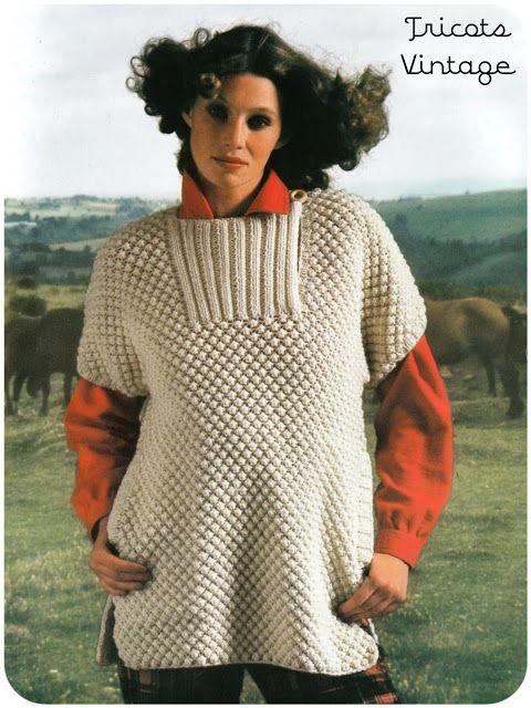 modele tricot gratuit vintage