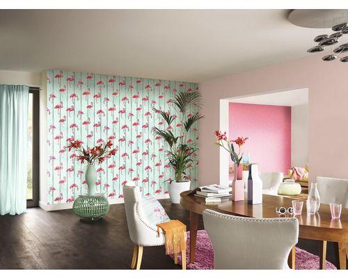 Vliestapete Holzoptik mit Flamingo jetzt kaufen bei HORNBACH Österreich