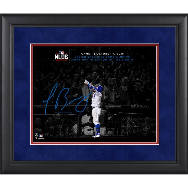 """Javier Baez Chicago Cubs Fanatics Authentic Framed 11"""" x 14"""" 2016 National League Division Series Game 1 Winning Home Run Moments Spotlight - Facsimile Signature"""